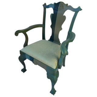 Jamie Drake Hand Decorated Chippendale Style Chair