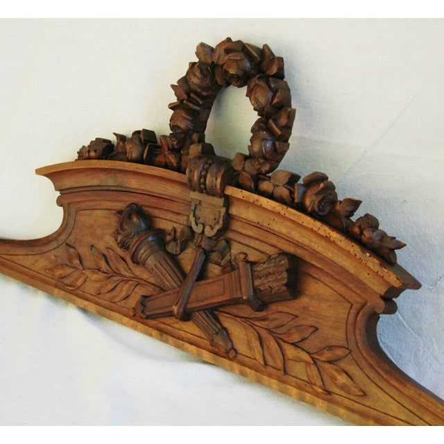 Architectural Wood Pediment : S large architectural carved wood pediment chairish