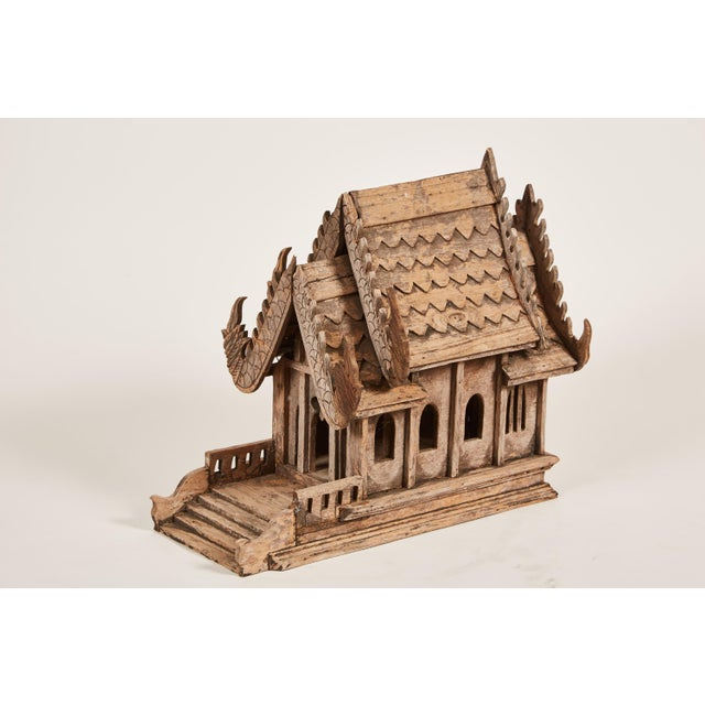 "20th Century Teak Spirit House of the Buddhist Temple ""Vihara"" in Thailand - Image 2 of 8"