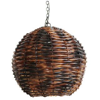 Hand Weaved Rattan Globe Lantern