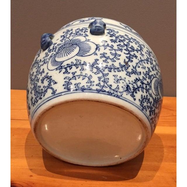 Blue & White Chinese Fish Bowl - Image 3 of 5