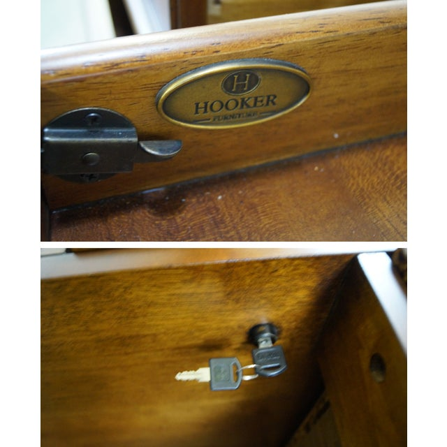 Hooker Leather Top Executive Desk - Image 6 of 10