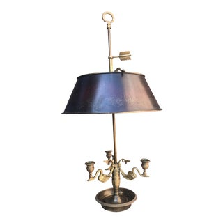 Empire French Bouillotte Lamp With Swans