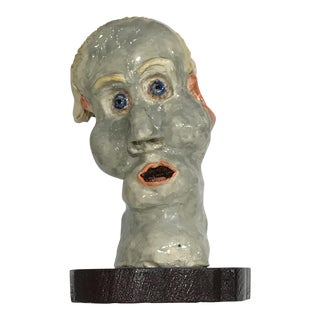 Signed Abstract Ceramic Bust