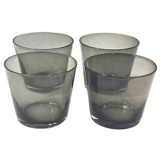 Scandinavian Charcoal Rock Glasses - Set of 4