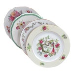 Vintage Mismatched China Bread Plates - Set of 4