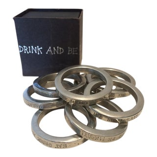 Vintage Vilmain + Klinger USA Napkin Rings - Set of 8