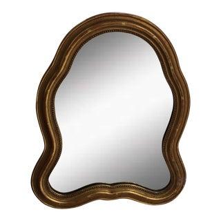 Elegant Vintage Gold-Leaf Mirror