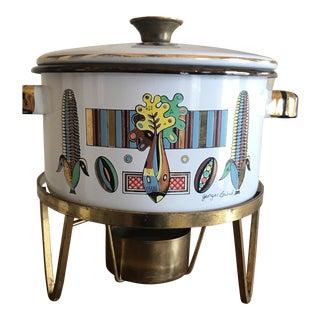 Georges Briard Vegetable Enamel Pot & Warmer - A Pair