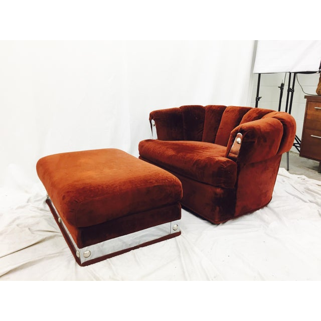 Vintage Mid-Century Modern Chair & Ottoman - A Pair - Image 2 of 11