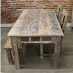 Image of 'Stamps' Wood Dining Set