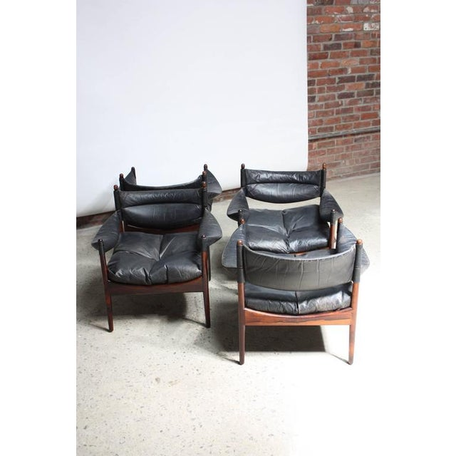 Set of Four Kristian Solmer Vedel 'Modus' Rosewood Lounge Chairs - Image 7 of 10