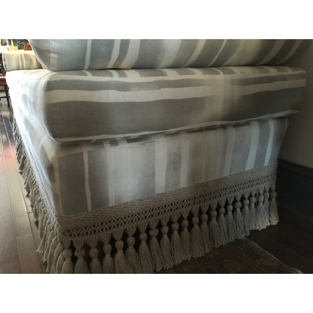 Image of Custom Indigo & White Striped Daybed