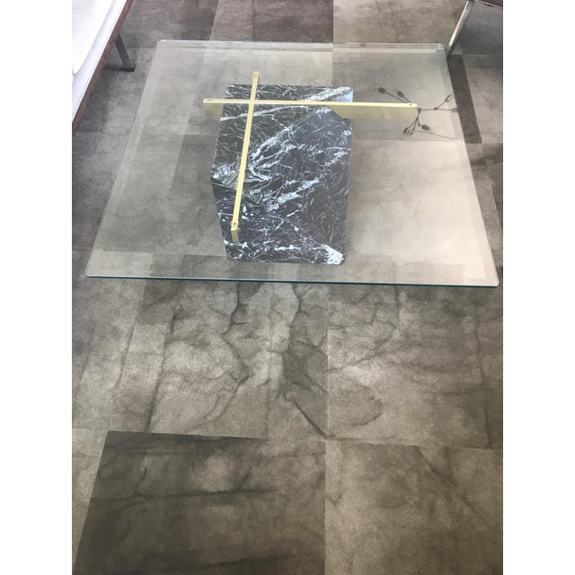 Artedi Nero Marquina Marble & Brass Coffee Table - Image 3 of 8