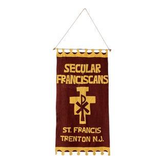 Vintage Catholic Felt Banner