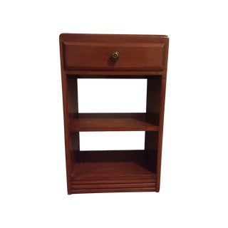 Vintage Wood One Drawer Nightstand Side Table