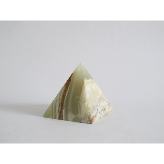 Image of Onyx Pyramid with Green and Brown