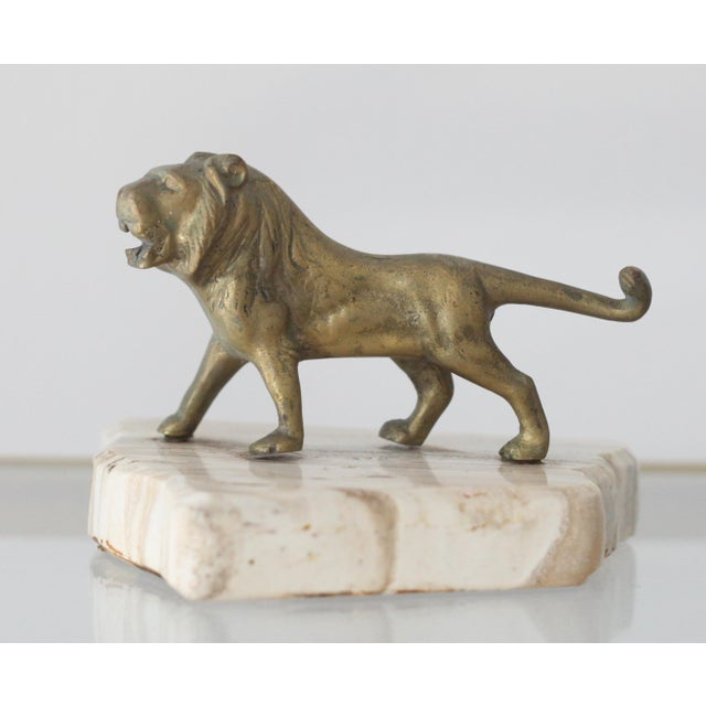 Vintage Mid-Century Brass Lion Paperweight - Image 2 of 5