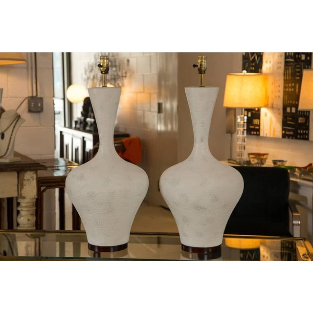 Pair of Mid-Century Large Sculptural Lamp - Image 2 of 7