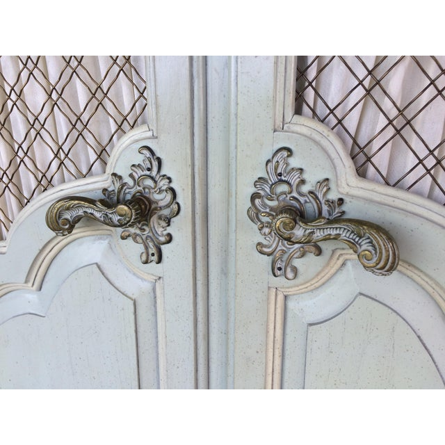 Hickory White French Provincial Armoire - Image 8 of 11