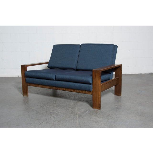 Wenge 70's Mod Love Seat - Image 3 of 8
