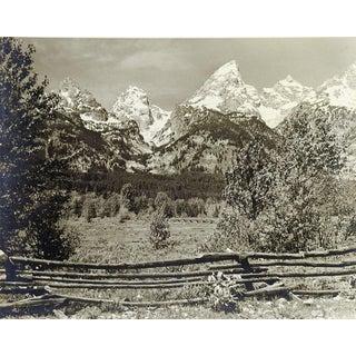 1950's Vintage Grand Teton's Photograph