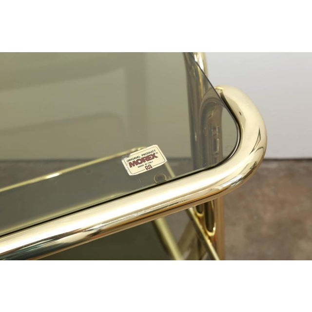 Gold Metal, Glass and Mirror Two-Tier Bar, Tea Cart or Serving Cart - Image 6 of 8