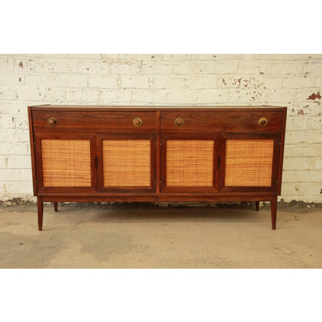 Jack Cartwright For Founders MidCentury Walnut Credenza Chairish - Cartwright furniture