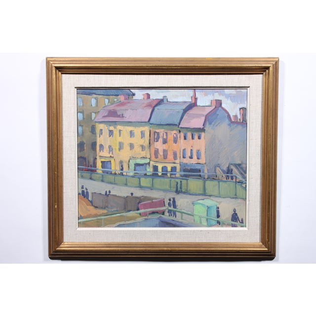 1948 Waterfront Colors Oil Painting - Image 2 of 3
