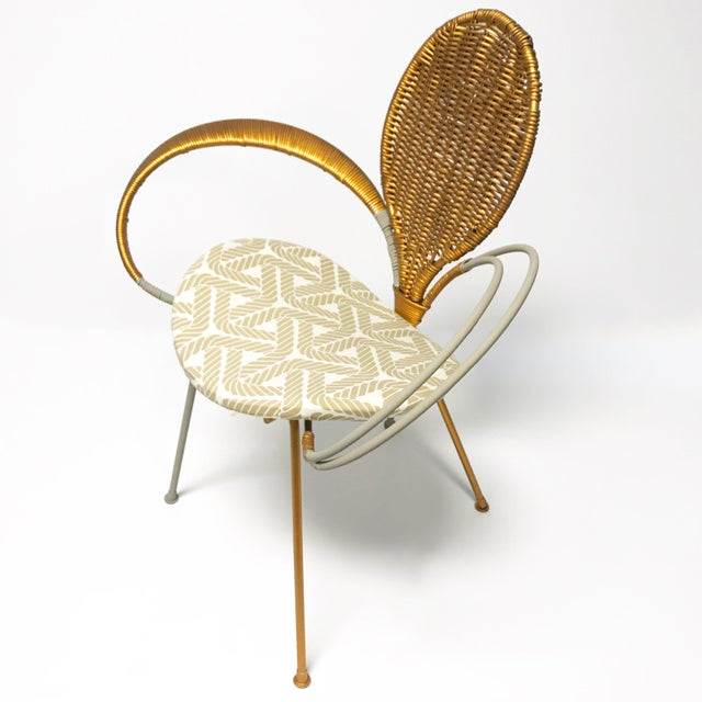 Wrought Iron Accent Chair - Image 3 of 10