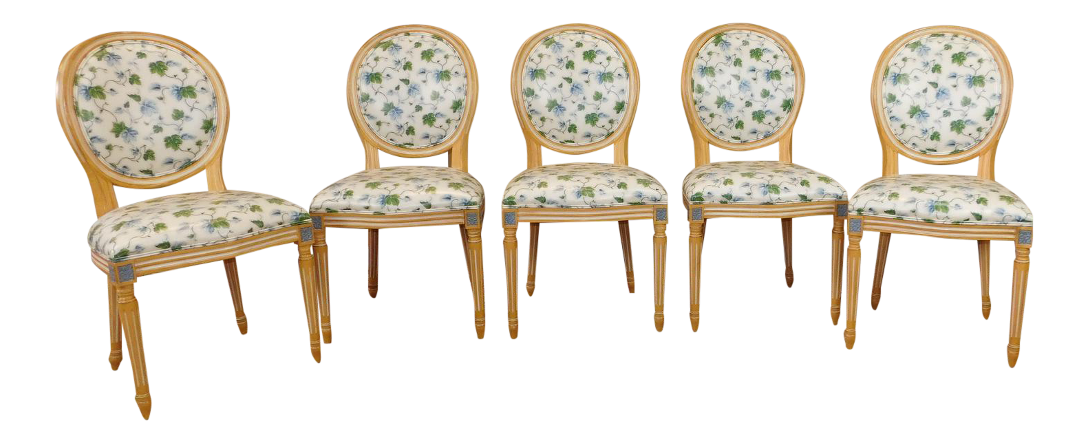 white washed maple french louis xvi style dining chairs set of 5