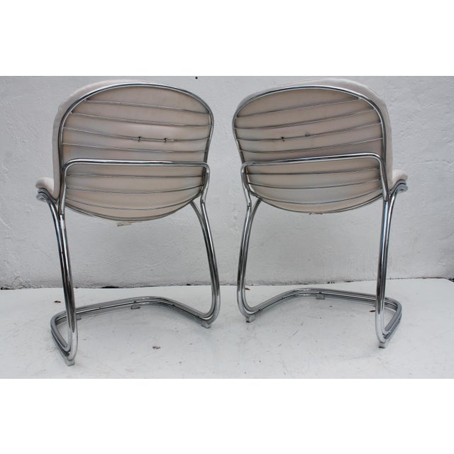 Image of Gastone Rinaldi Italian Chrome Chairs - Set of 4