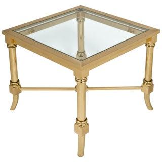 Maison Jansen Style Gilt Brass Side Table
