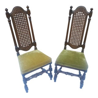 1929 Century Furniture Company Cane Chairs - A Pair