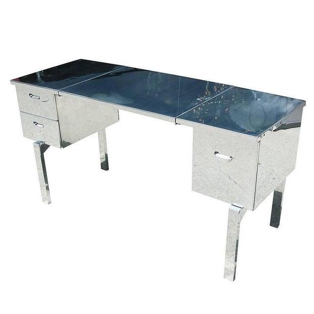 Polished Aluminium WWII Campaign Desk - Image 5 of 10