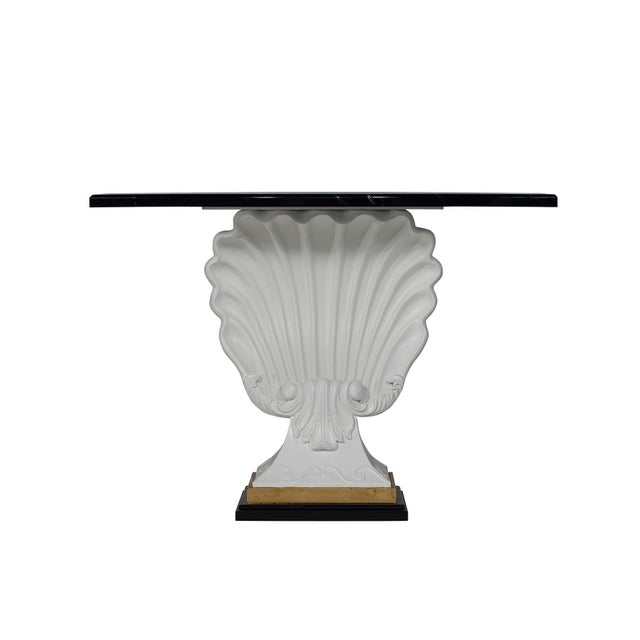 Black & White Shell Console Table - Image 2 of 6