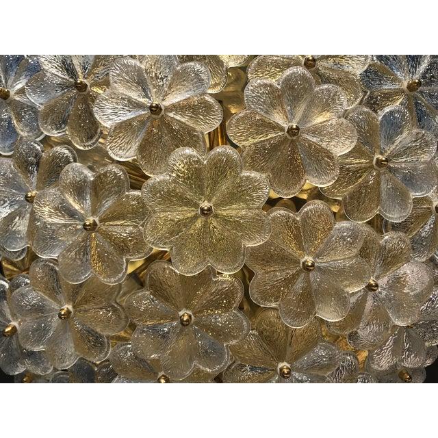 Ernst Palme Extra Large Floral Glass Flush Mount - Image 2 of 7