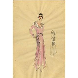 Original Parisian Fashion Watercolor Painting
