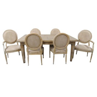 Italian Guido Zichele Distressed Dining Set