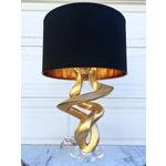 Image of Hollywood Regency Gold Sculpture Lamp