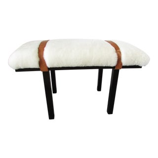 Custom Lambs Wool Bench