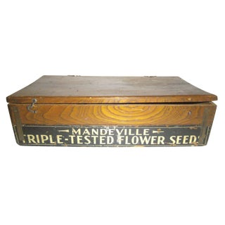Vintage Wooden Seed Box