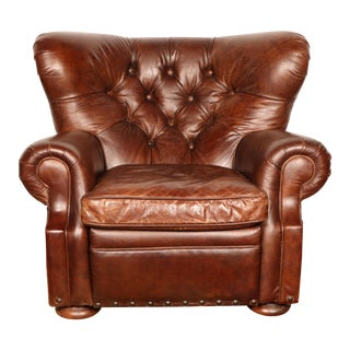 Churchill Leather Recliner by Restoration Hardware