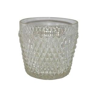 Diamond Point Glass Ice Bucket