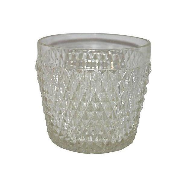 Image of Diamond Point Glass Ice Bucket