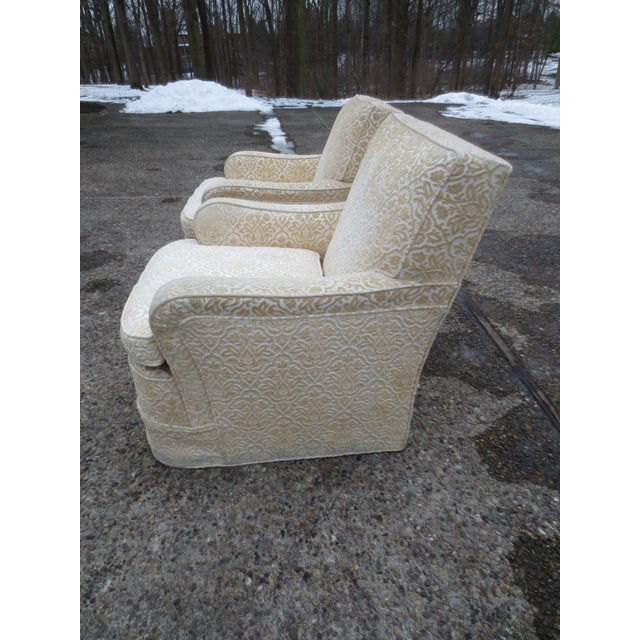 Vintage Cream Club Chairs - A Pair - Image 3 of 9
