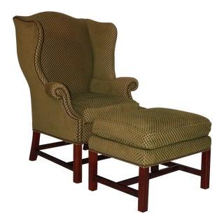 Baker Wing Chair & Ottoman