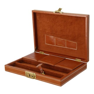 Vintage Men's Leather Jewelry Box