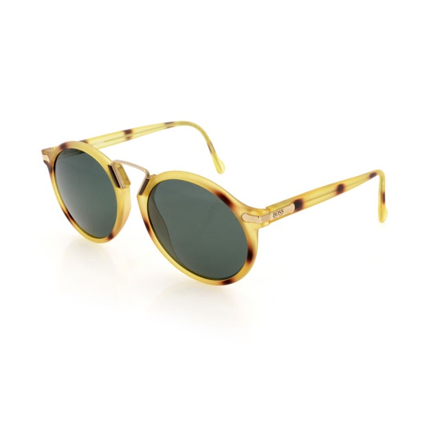 Image of Boss Vintage Acetate & Gold Sunglasses