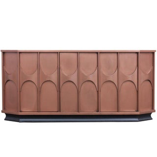 Copper lacquered Brutalist Sideboard, Belgium, 1960s